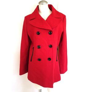 Black Rivet Size L Red Peacoat Wool Blend
